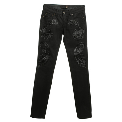 Just Cavalli Jeans mit Paisley- Applikationen