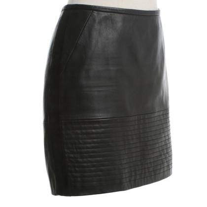 Sandro Leather skirt in black