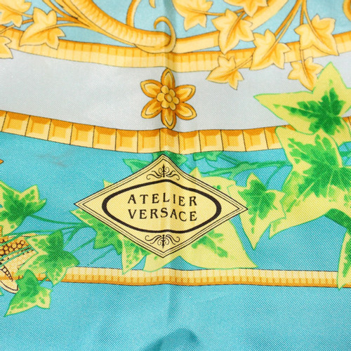 0dc2b99e Versace Silk scarf with print - Second Hand Versace Silk scarf with ...