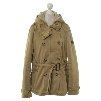 Closed Short parka in Pale olive