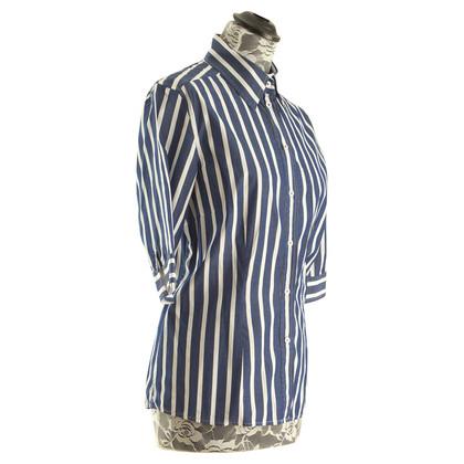 Van Laack Striped shirt in blue/white