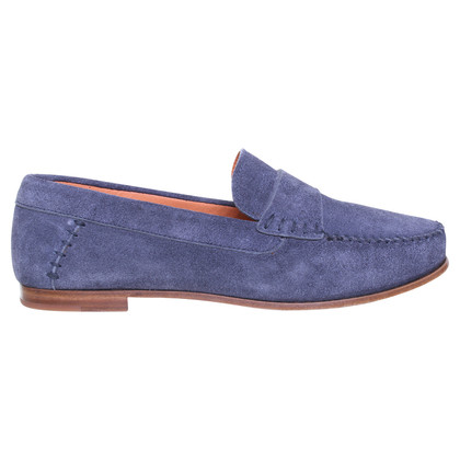 Santoni Wildlederloafer in blue