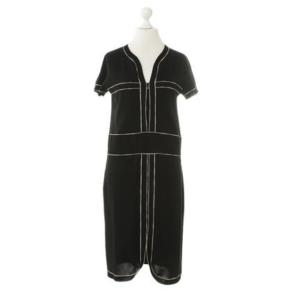 Chanel zwart gebreide jurk white