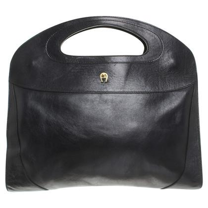Aigner sac à main en cuir noir