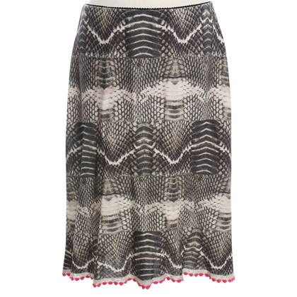 Marc Cain Knitted skirt with pattern