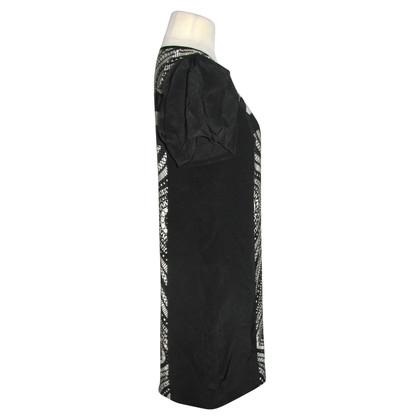 Tibi Patroon zijden jurk