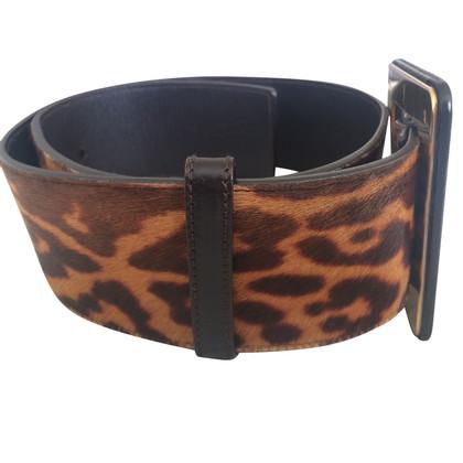 Yves Saint Laurent Large ceinture avec imprimé léopard