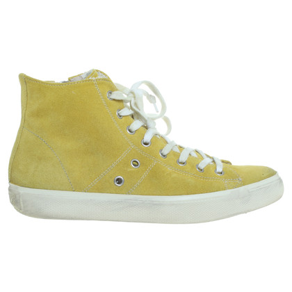 Leather Crown Sneakers in giallo