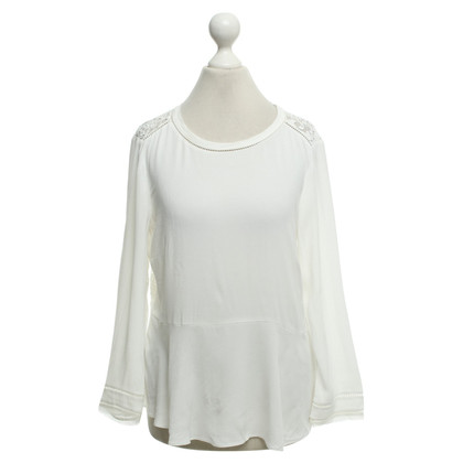 Rebecca Taylor Witte blouse met kant
