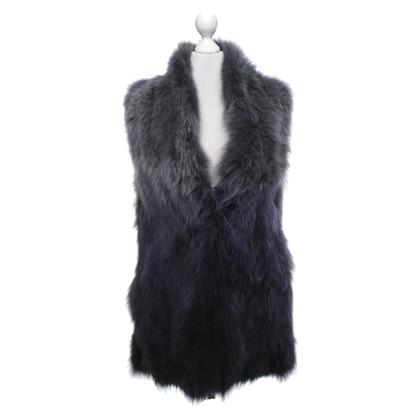 Steffen Schraut Fur vest with gradient