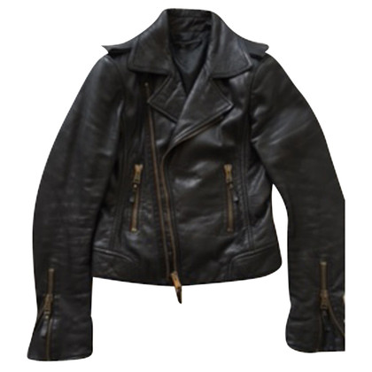 Balenciaga The biker-style leather jacket