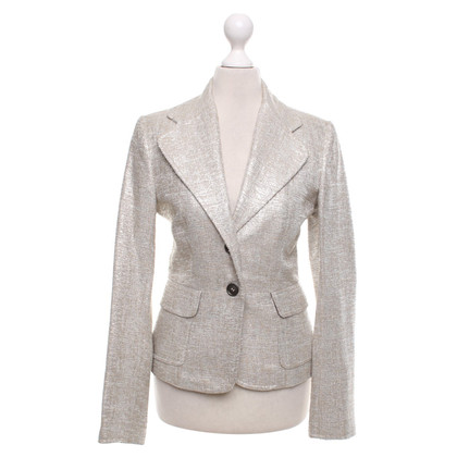 Dolce & Gabbana Bouclé-Blazer in Beige/Silber