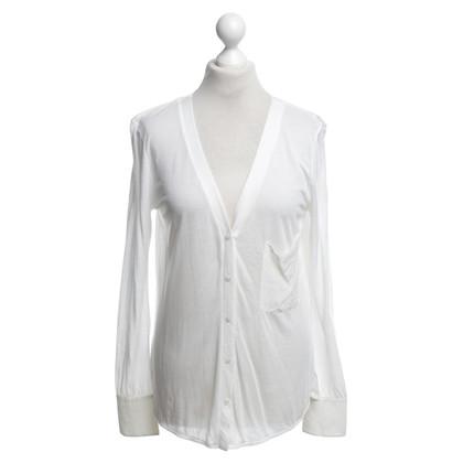Stefanel Jersey-Jacke in Weiß