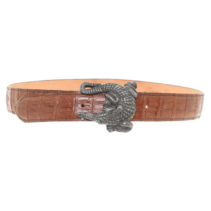 Reptile's House Belt made of crocodile leather