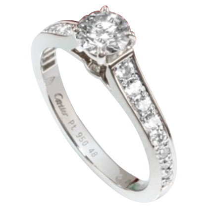 Cartier 950 Platinum Ring mit Diamanten