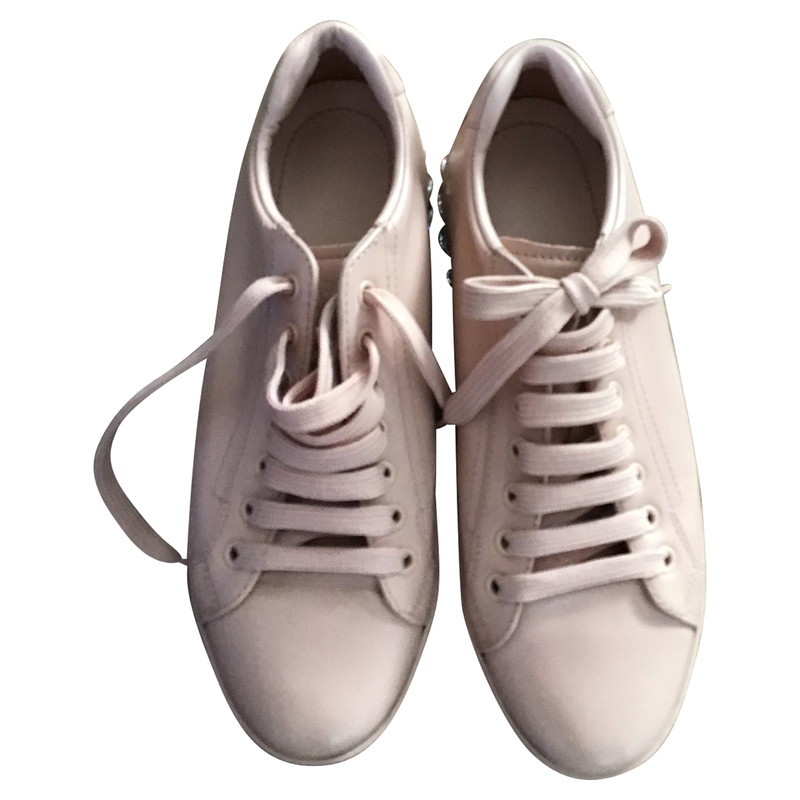 Prada Trainers Leather in Pink - Second