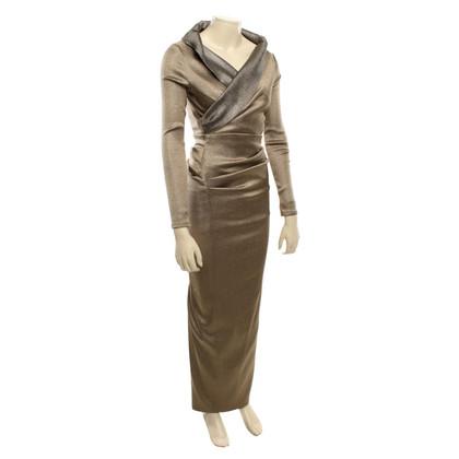 Talbot Runhof Abendkleid mit Metallic-Effekt
