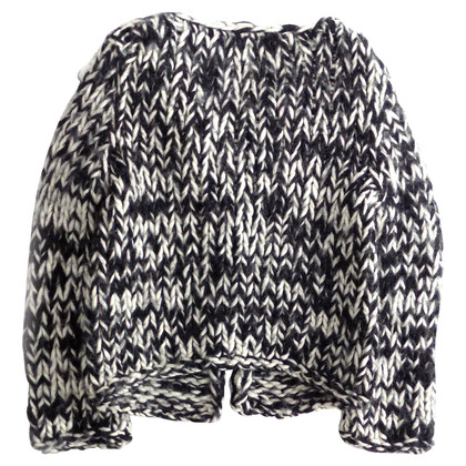 Max & Co Black and white chunky knit cardi