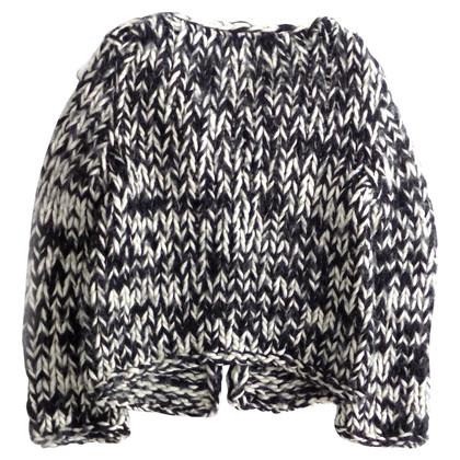 Max & Co Cardi in maglia pesante bianco e nero