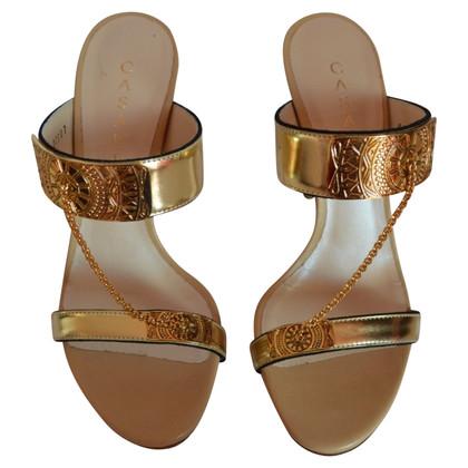 Casadei Sandali in Gold & Beige