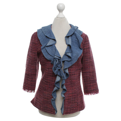 D&G giacca di tweed con balze