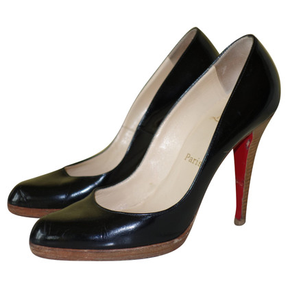 Christian Louboutin Plateau-Pumps aus Lackleder