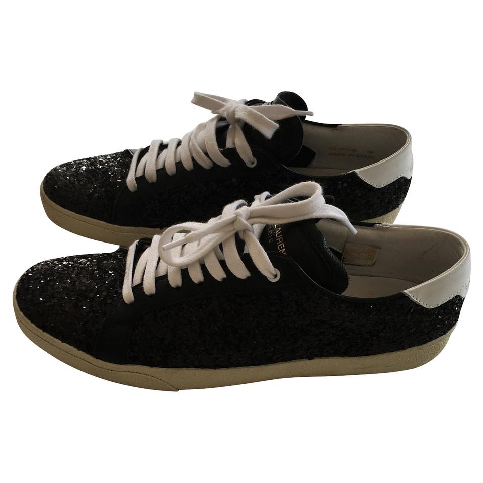 yves saint laurent chaussures de sport avec des paillettes acheter yves saint laurent. Black Bedroom Furniture Sets. Home Design Ideas