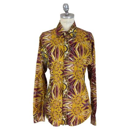 Roberto Cavalli Roberto Cavalli brown flower shirt