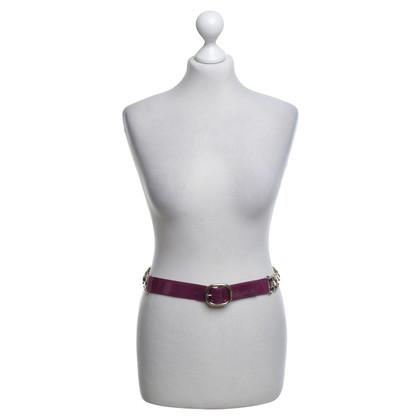 Céline Patent leather belt in purple