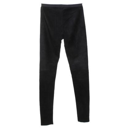 Rick Owens Leather leggings in black