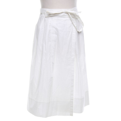 Jil Sander Wrap skirt in cream white
