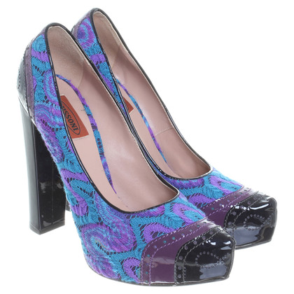Missoni pumps met haak items