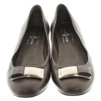 Car Shoe Leather Ballerina Taupe