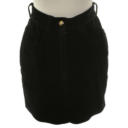 Moschino Velvet skirt black