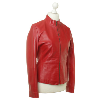 Stefanel Leather jacket in red