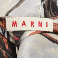 Marni Silk dress in red / orange / blue