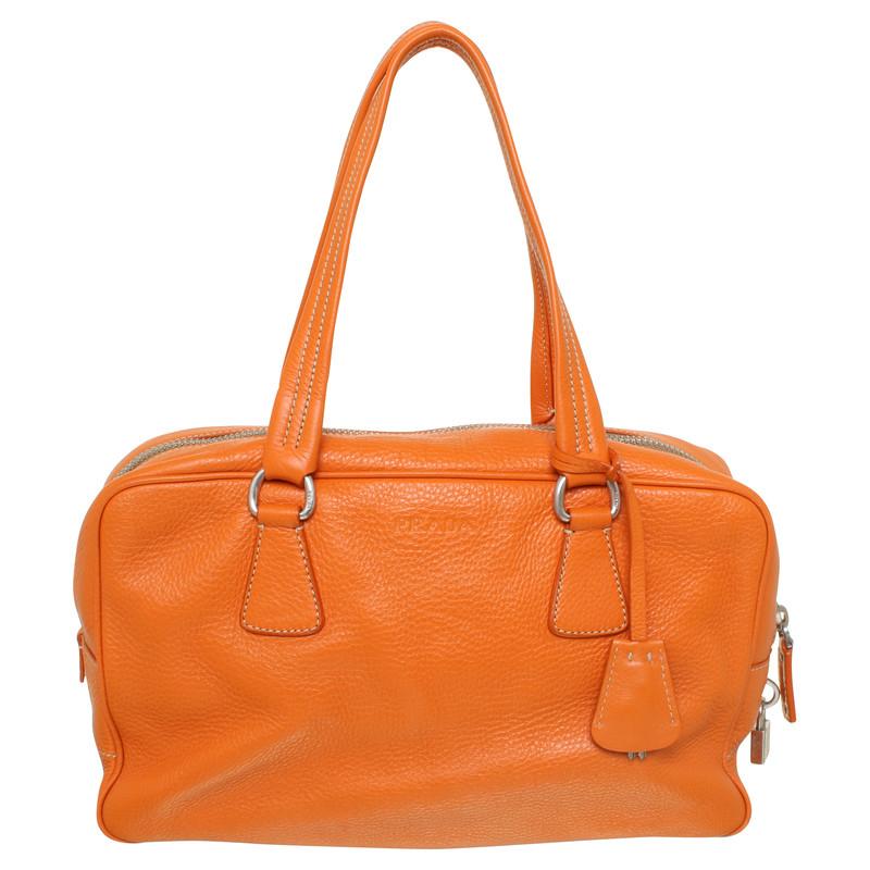 prada tasche in orange second hand prada tasche in orange gebraucht kaufen f r 340 00 318391. Black Bedroom Furniture Sets. Home Design Ideas