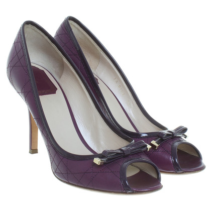 Christian Dior Peeptoes in Violett