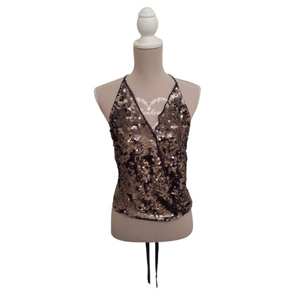 Patrizia Pepe Sequined silk top