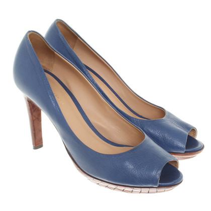 Bottega Veneta Peeptoes in blu