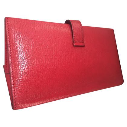Hermès Red threefold bearn wallet