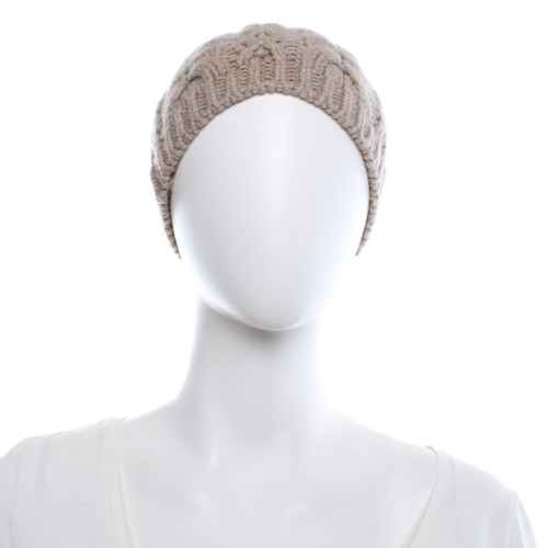 858c3684562700 Repeat Cashmere Hat/Cap Wool in Beige - Second Hand Repeat Cashmere ...