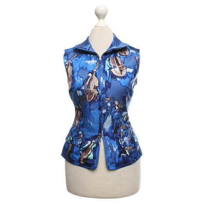 Hermès Seidenweste in Blau