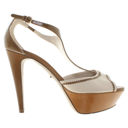 Sergio Rossi Sandals in beige / brown