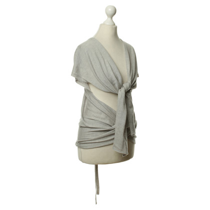 Maison Martin Margiela Knitted top in grey