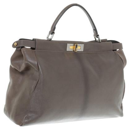 """Fendi """"Peekaboo Bag"""" in Taupe"""