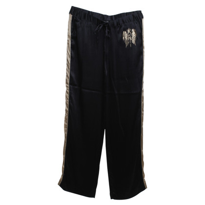Faith Connexion trousers in black / gold