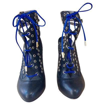 Versace Sandaletten in Blau/Schwarz