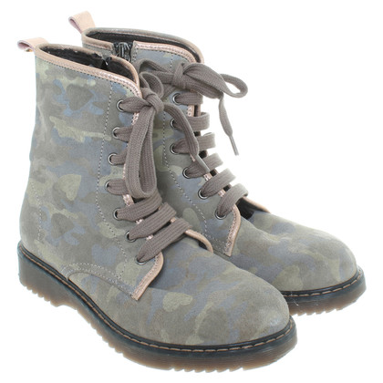 Twin-Set Simona Barbieri Lace ankle boots olive green