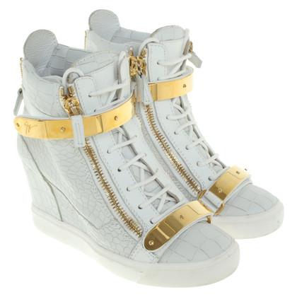 Giuseppe Zanotti Sneaker-Wedges in Grau